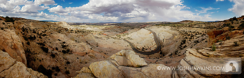 Grand Staircase-Escalante National Monument - Razorback - US Highway 89 going further out into the the Monument