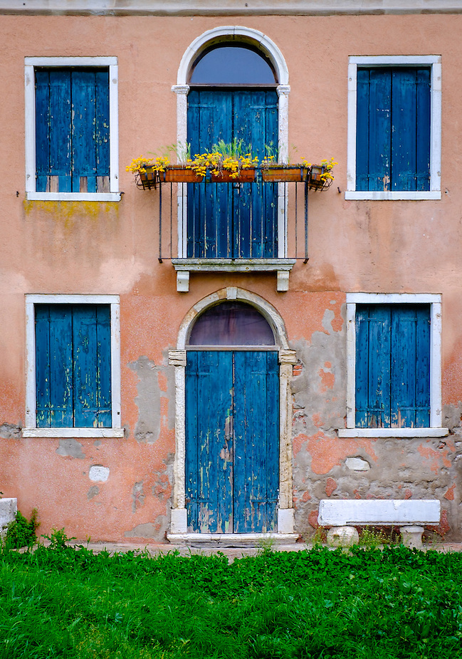 VENICE, ITALY - CIRCA MAY 2015: Typical facade in Torcello, Venice. (Daniel Korzeniewski)
