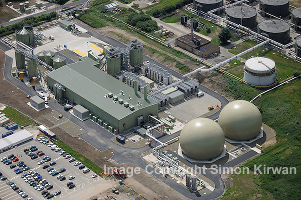 Davyhulme Wastewater Treatment Works from the Air - aerial photography by Simon Kirwan