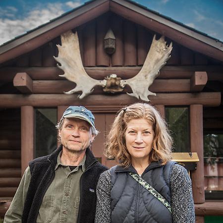 Fairbanks residents Marin and Jeff Merkel visiting Anchorage (© Clark James Mishler)