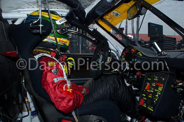 #45 Flying Lizard Motorsports Porsche 911 GT3 RSR: Patrick Long (Darren Pierson)