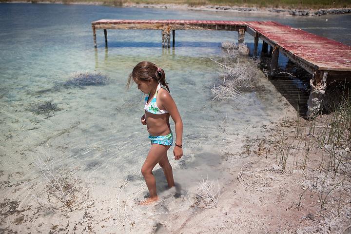 Swiming at Twin Lakes in Santa Rosa New Mexico (Steven St John)