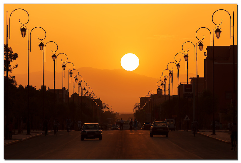 Sunset in the city of Ouarzazate, Morocco. (Rosa Frei)