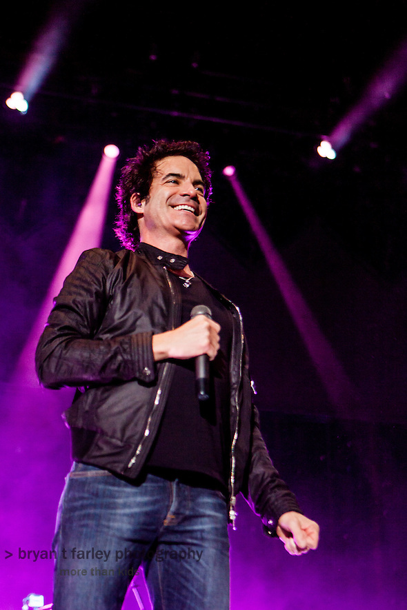 The Bay Area rock band Train headlined a concert  at the America's Cup Pavilion in San Francisco, California on Sunday August 11, 2013 during their Mermaids of Alcatraz tour. Train performed with The Script, Gavin DeGraw and Ashley Monroe. (Bryan Farley)