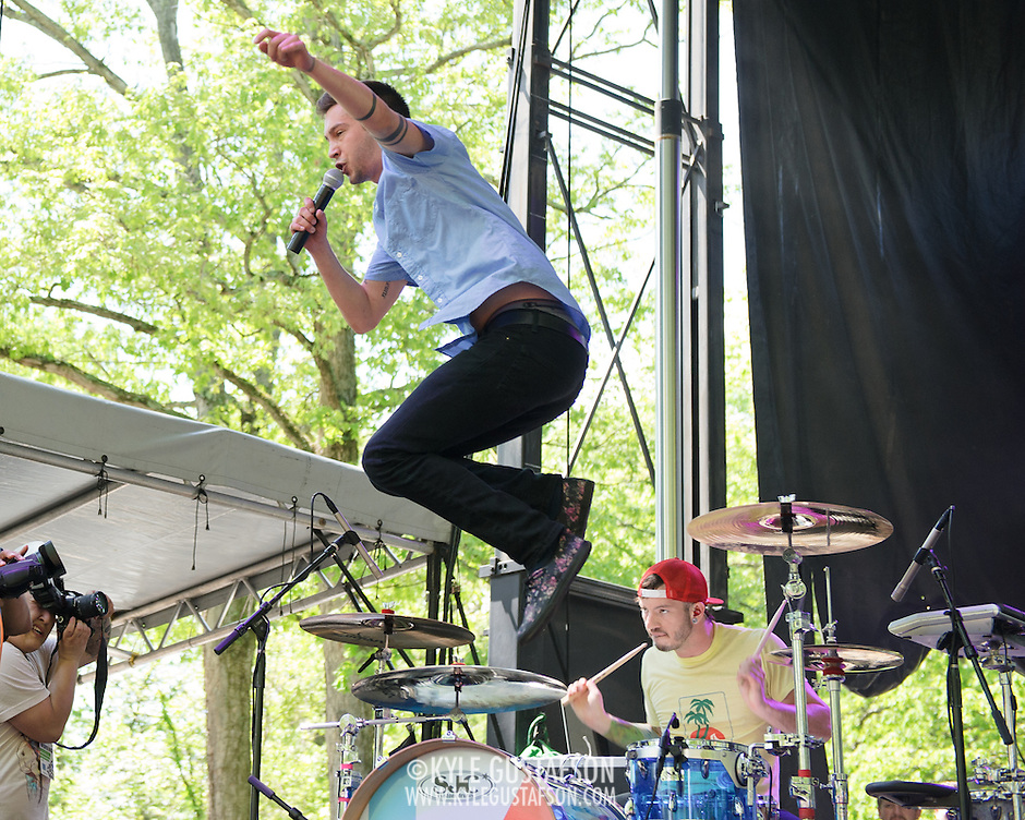 COLUMBIA, MD - May 11th, 2013 - Twenty One Pilots perform on the Treehouse Stage at the 2013 Sweetlife Food and Music Festival at Merriweather Post Pavilion in Columbia, MD. (Photo by Kyle Gustafson / For The Washington Post) (Kyle Gustafson/Photo by Kyle Gustafson)
