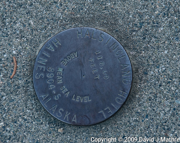 Hotel Halsingland Bench Mark -- 118 Feet Above Mean Sea Level. Image taken with a Nikon D300 camera and 18-300 mm lens (ISO 200, 200 mm, f/5.6, 1/160 sec) (David J Mathre)