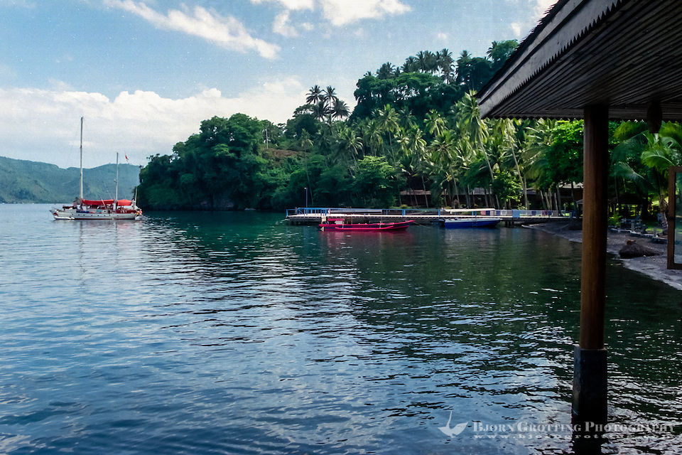 North Sulawesi, Bitung. Nice hotel in the Lembeh Strait, close to Bitung. Popular spot for diving. (Photo Bjorn Grotting)