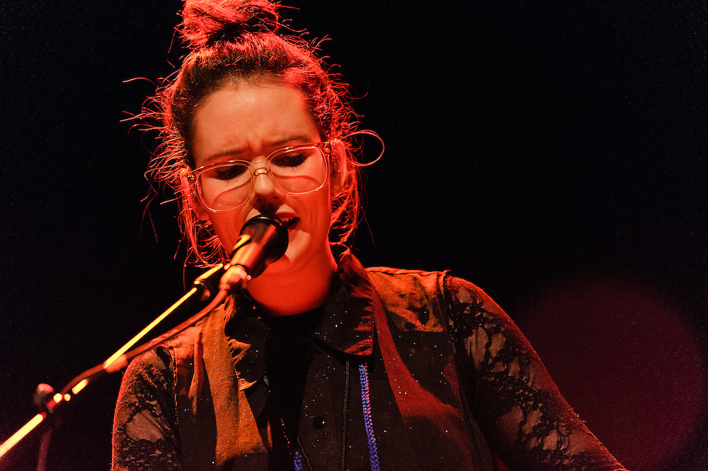Photos of the Icelandic musician Soley performing live at Terminal 5, NYC. November 20, 2012. Copyright © 2012 Matthew Eisman. All Rights Reserved. (Photo by Matthew Eisman/Getty Images)