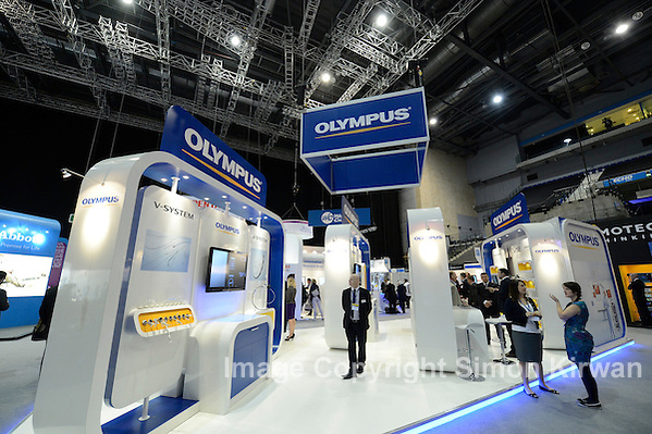 Olympus Stand, IHIW-EFI-BSHI Conference 2012 BT Convention Centre Liverpool - event photography by Simon Kirwan