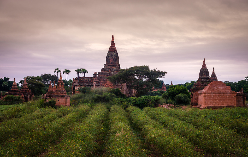 BAGAN, MYANMAR - CIRCA DECEMBER 2017: Temple over the plains of Bagan in Myanmar (Burma) (Daniel Korzeniewski)