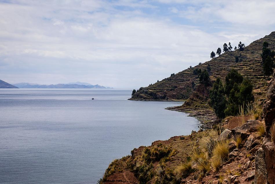 TAQUILE, PERU - CIRCA OCTOBER 2015: Island of Taquile in Lake Titicaca. (Daniel Korzeniewski)
