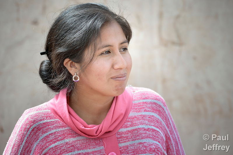 Catarin Seron is a young leader of the Guarani indigenous village of Mberirenda, Bolivia. Church World Service works with the village to strengthen the leadership of women and youth. (Paul Jeffrey)