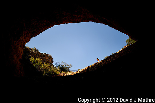 Entrance to Carlsbad Cavern, Looking Out. Image taken with a Nikon D4 camera and 35 mm f/1.4 lens (ISO 100, 35 mm, f/1.4, 1/6400 sec) (David J Mathre)