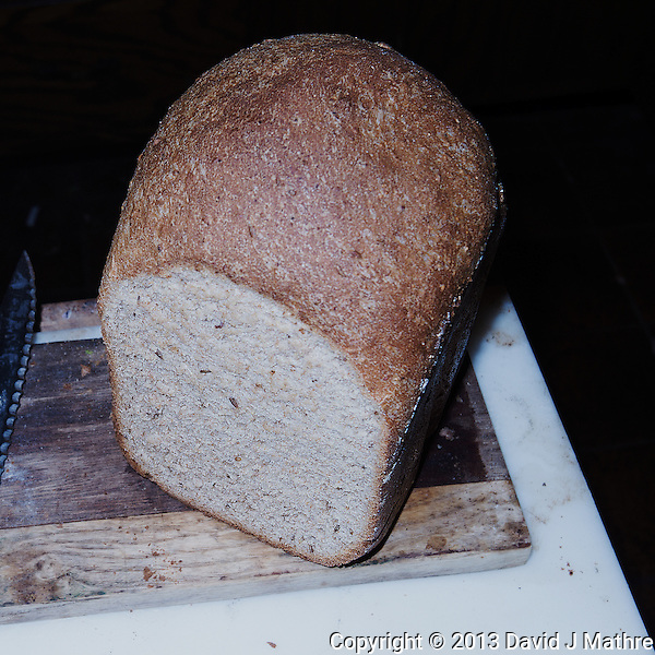 Hearty Rye & Whole Wheat Bread. Image taken with a Leica X2 camera (ISO 100, 24 mm, f/8, 1/60, pop-up flash) (David J. Mathre)