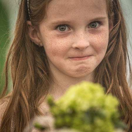 Young girl at the wedding of Alexa and Niall McInerny, Talkeetna, Alaska (© Clark James Mishler)