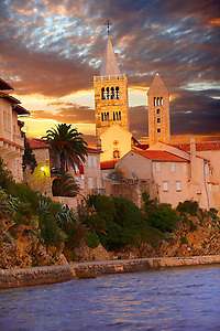 The medieval town and cliffs Rab. Rab Island, Craotia (By Travel photographer Paul Williams. http://funkystockphoto.com)
