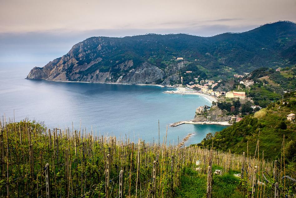 MONTEROSSO AL MARE, ITALY - CIRCA MAY 2015: Vineyards around Monterosso al Mare in Cinque Terre, Italy. (Daniel Korzeniewski)
