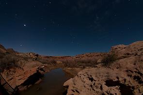 Salt Wash Under Stars at Night, Arches National Park, Utah, US (Roddy Scheer)