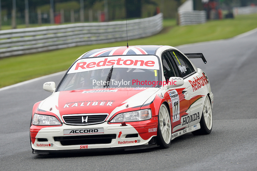 #1 Stewart Whyte - Honda Accord during HSCC Super Touring Car Championship qualifying at Oulton Park, Little Budworth, Cheshire, United Kingdom. June 07 2014. World Copyright Peter Taylor/PSP. Copy of publication required for printed pictures. Every used picture is fee-liable. http://archive.petertaylor-photographic.co.uk (Peter Taylor/PSP)