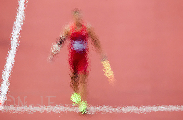 09 AUG 2012 - LONDON, GBR - Trey Hardee (USA) of the USA  prepares to throw during the javelin in the Decathlon at the London 2012 Olympic Games athletics in the Olympic Stadium at the Olympic Park in Stratford, London, Great Britain .(PHOTO (C) 2012 NIGEL FARROW) (NIGEL FARROW/(C) 2012 NIGEL FARROW)
