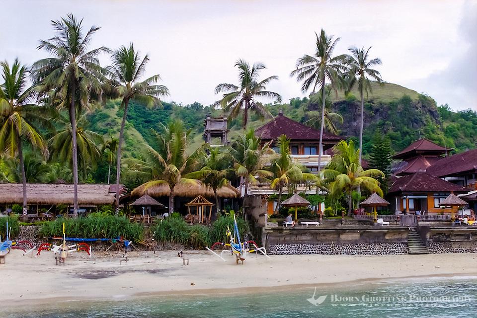 Bali, Karangasem, Candidasa. The beach looking west. (Photo Bjorn Grotting)