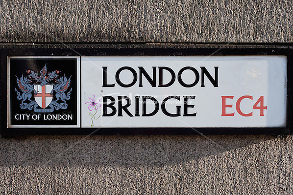 london bridge sign on stone wall (Christopher Holt LTD London UK, Christopher Holt LTD - LondonUK, Christopher Holt LTD/Image by Christopher Holt - www.christopherholt.com)