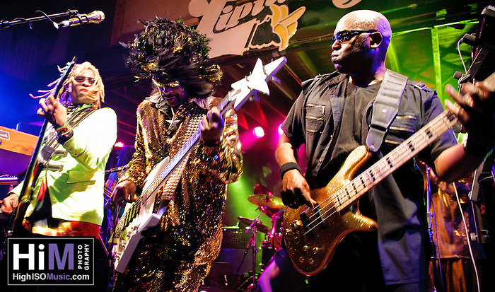 Bootsy Collins playing with his band at Tipitinas in New Orleans, LA. (Golden G. Richard III)