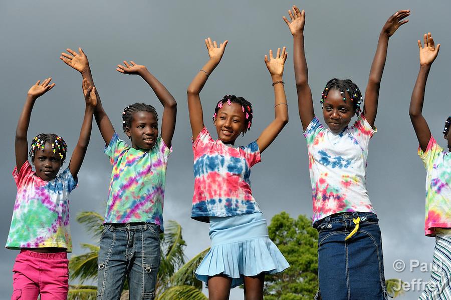 Members of Nouvel Etwal - Haitian Kreyol for