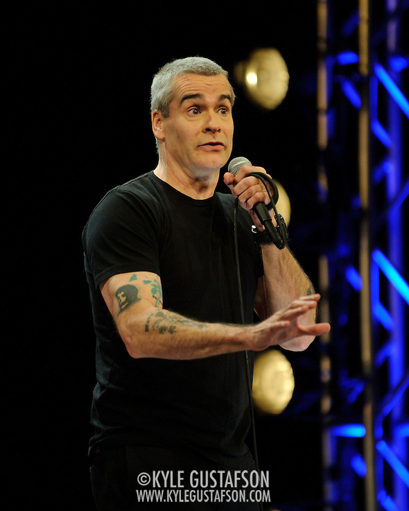 WASHINGTON, D.C. - February 13th, 2011: D.C. native Henry Rollins performs his unique brand of spoken word on his 50th birthday as part of the National Geographic Live! event series. The event was videotaped for a future DVD release. (Photo by Kyle Gustafson/For The Washington Post) (Photo by Kyle Gustafson / For The Washington Post)