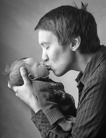 Brian Adams and his son, Elliott, Anchorage (Clark James Mishler)