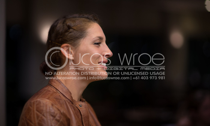 Andrea Petkovic (GER), April 17, 2014 - TENNIS : Federation Cup, Semi-Final, Australia v Germany, Official Dinner, Stamford Plaza Hotel, Brisbane, Victoria, Australia. Credit: Lucas Wroe (Lucas Wroe)