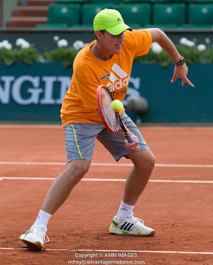 DOMINIC THIEM (AUT) Tennis - French Open 2014 -  Toland Garros - Paris -  ATP-WTA - ITF - 2014  - France -  29 May 2014.  © AMN IMAGES (FREY/FREY- AMN Images)