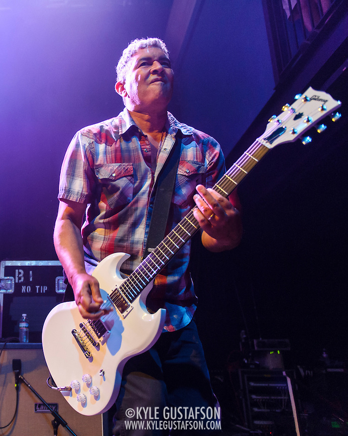 "WASHINGTON, DC - May 5th, 2014 - Pat Smear of the Foo Fighters performs at the 9:30 Club in Washington D.C. as part of the birthday celebration for Big Tony of Trouble Funk.  The band performed as surprise guests and played a set full of hits such as ""My Hero"" and ""These Days."" (Photo by Kyle Gustafson / For The Washington Post) (Kyle Gustafson/For The Washington Post)"