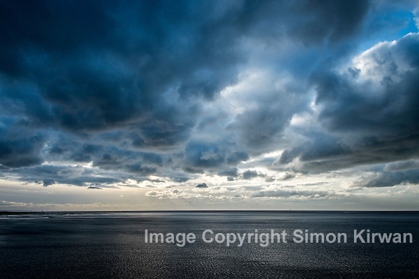 Stormy Sky & Seascape, Southport Pier - Photography By Simon Kirwan