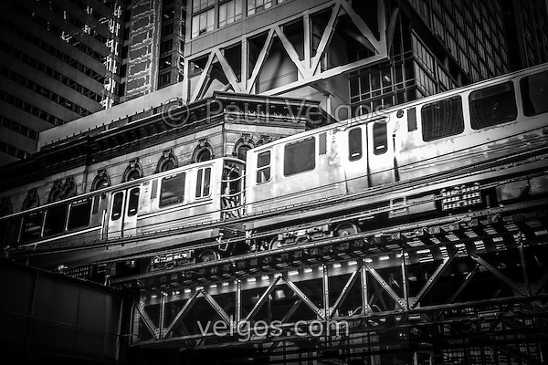 MG 6941 Chicago Elevated L Train Black And White New Chicago Black and White Photos Collection