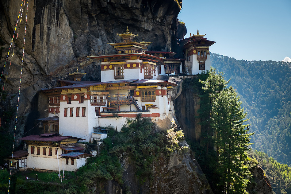 PARO, BHUTAN - CIRCA OCTOBER 2014: View of Tiger's Nest Monastery in Paro, Bhutan (Daniel Korzeniewski)