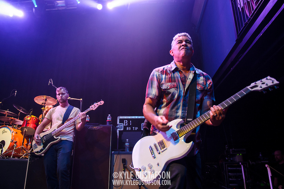 """WASHINGTON, DC - May 5th, 2014 - Nate Mendel and Pat Smear of the Foo Fighters perform at the 9:30 Club in Washington D.C. as part of the birthday celebration for Big Tony of Trouble Funk.  The band performed as surprise guests and played a set full of hits such as """"My Hero"""" and """"These Days."""" (Photo by Kyle Gustafson / For The Washington Post) (Kyle Gustafson/For The Washington Post)"""