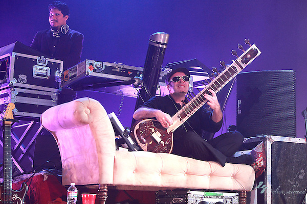 Thievery Corporation performs September 12th, 2011 at the Moore Theatre in Seattle, Washington ((c)2011 Elisa Sherman)