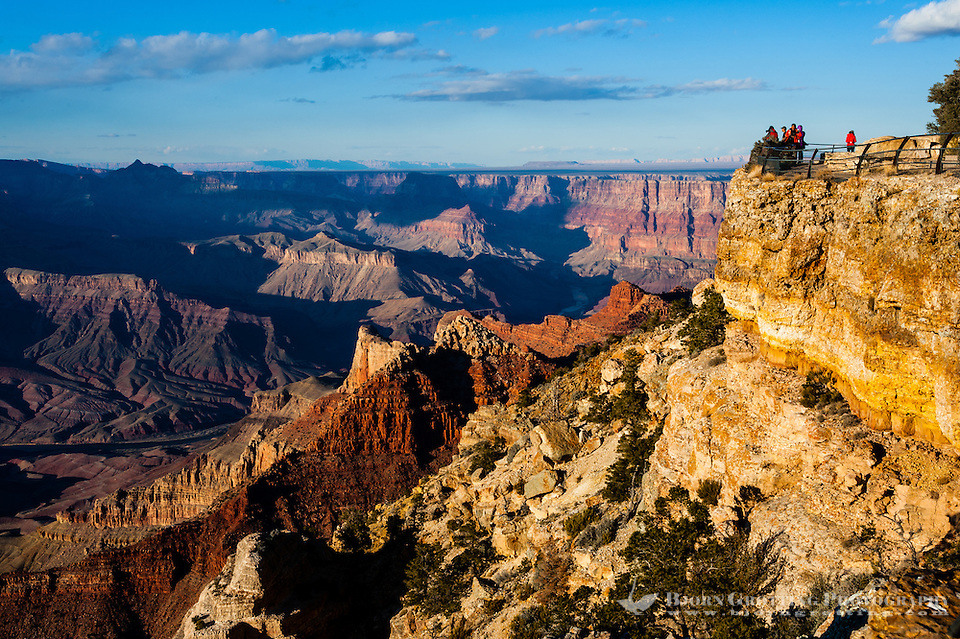 United States, Arizona, Grand Canyon. Navajo Point is close to Desert View, Painted Desert and the watchtower at Desert View can also be seen from here. (Photo Bjorn Grotting)