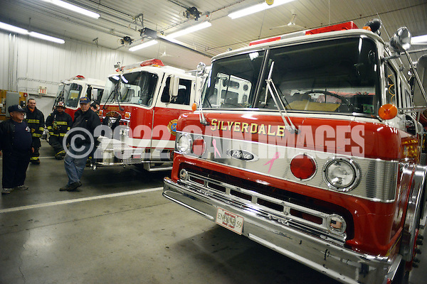 SILVERDALE, PA - APRIL 15:  A fire truck, circa 1980 sits in the garage at Silverdale Fire Company April 15, 2014 in Silverdale, Pennsylvania. Silverdale Fire Company will be celebrating it's 100th anniversary this year. (Photo by William Thomas Cain/Cain Images) (William Thomas Cain)