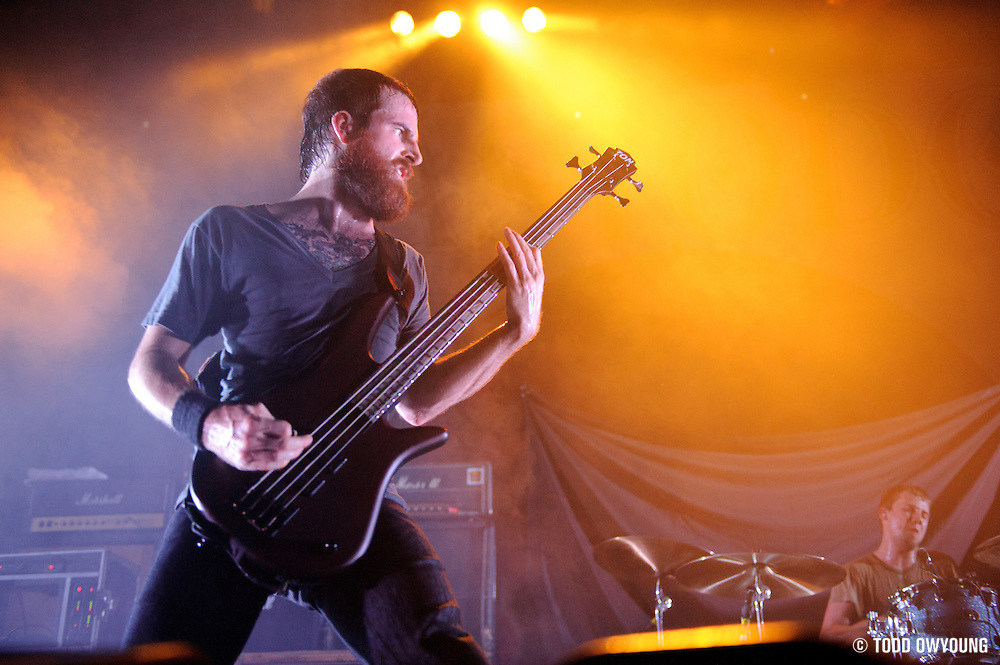 The Dillinger Escape Plan performing at Terminal 5 in New York City on November 19, 2011. © Todd Owyoung. (Todd Owyoung)