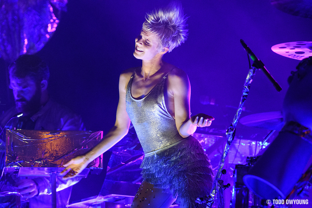 Robyn photographed performing at the Governors Ball Music Festival on Randalls Island in New York City on June 3, 2016 (Todd Owyoung)