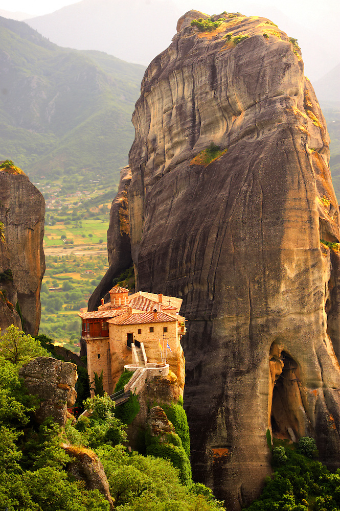 Greek Orthodox Rosanou Monastery, Meteora Mountains, Greece (By Travel photographer Paul Williams. http://funkystockphotos.com)