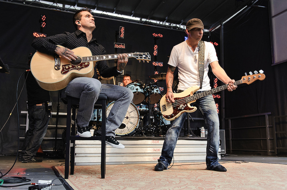 Photos of the rock band 3 Doors Down performing on 'FOX & Friends' All American Concert Series at FOX Studios, NYC. August 10, 2012. Copyright © 2012 Matthew Eisman. All Rights Reserved. (Photo by Matthew Eisman/ WireImage)
