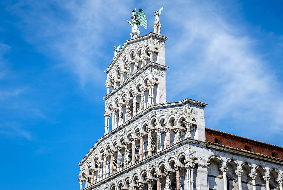 LUCCA ITALY - CIRCA MAY 2015: Church San Michele in Foro in Lucca (Daniel Korzeniewski)