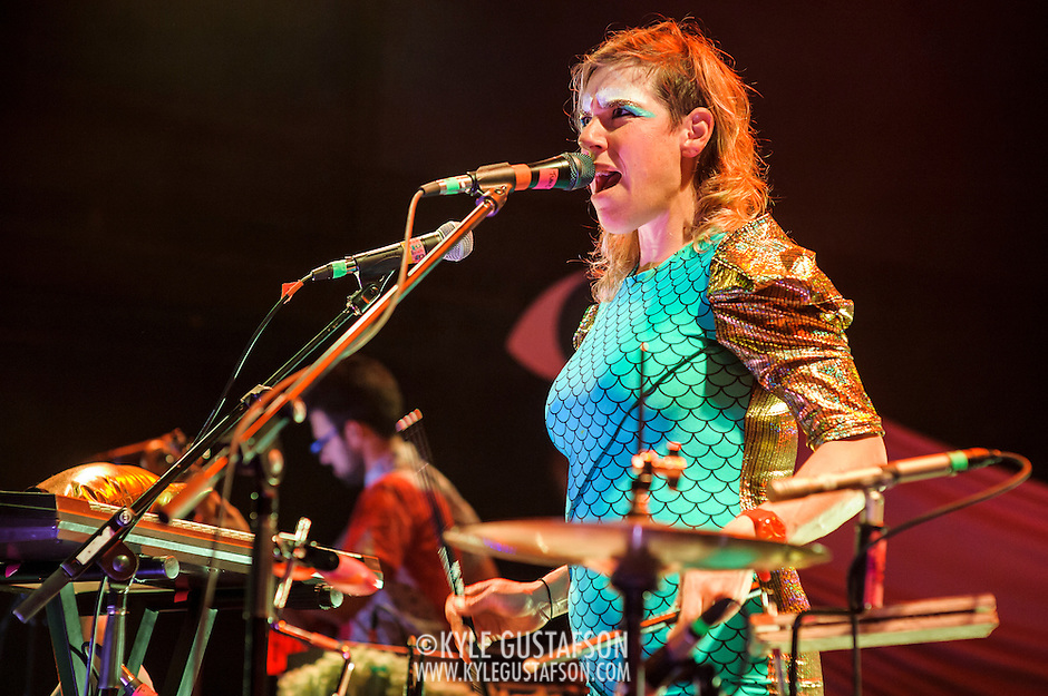 WASHINGTON, D.C. - June 13th, 2014 - Merrill Garbus of Tune-Yards performs at the 9:30 Club in Washington, D.C. The group has received high praise for their third album, Nikki Nack, which was released in May. (Photo by Kyle Gustafson / For The Washington Post) (Kyle Gustafson/For The Washington Post)