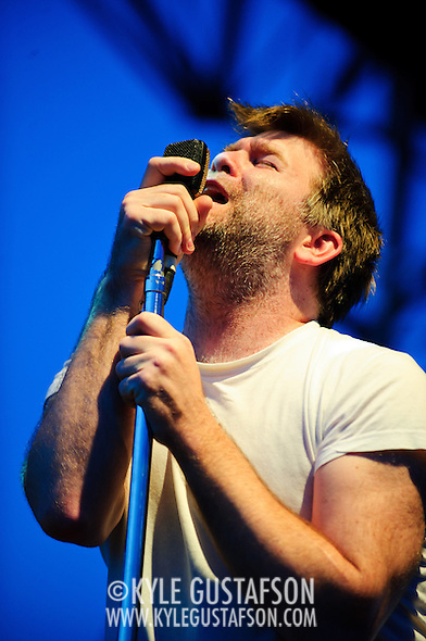 James Murphy and LCD Soundsystem perform their headlining set on Day Two of the 2010 Pitchfork Music festival. (Photo by Kyle Gustafson)
