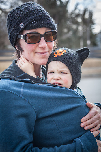 Neighbor, Samantha Guse and her son, Luka  samanthaguse@gmail.com (© Clark James Mishler)