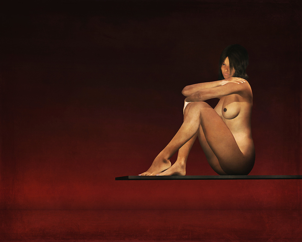 This nude model sits on a plank above the waters. Her mind is clearly consumed by her thoughts, but we have no way of knowing what those thoughts actually entail. We can only study this lovely, fascinating nude study as closely as possible. We can only speculate as to what she might be thinking about, but that is one of the great things about this piece. Even as you appreciate the detail, your mind is fascinated by other aspects. This painting can be purchased as wall art, but it is also available on t-shirts, and across a variety of interior products. (Jan Keteleer)