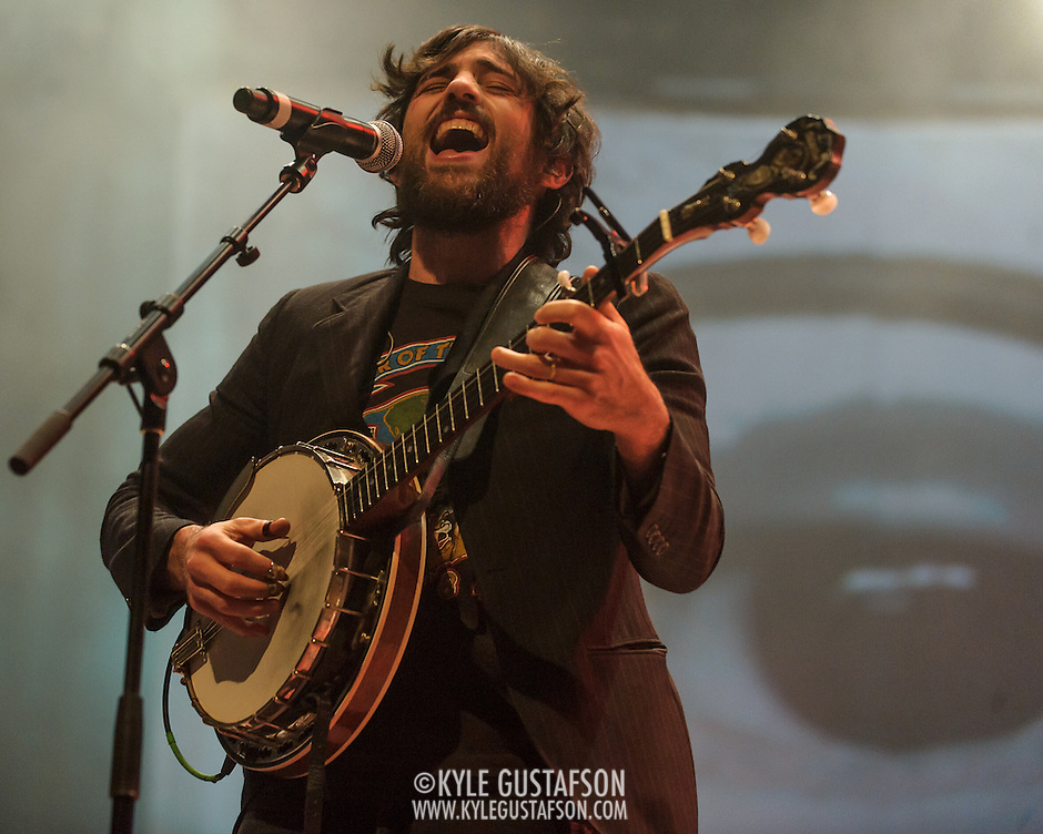 FAIRFAX, VA - February 28th, 2014 - Scott Avett of The Avett Brothers perform at the Patriot Center in Fairfax, VA. Their latest album, Magpie and the Dandelion, reached #5 on the U.S. Billboard 200 chart. (photo by Kyle Gustafson / For The Washington Post) (Kyle Gustafson/For The Washington Post)